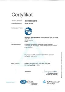 certyfikat ISO 2020